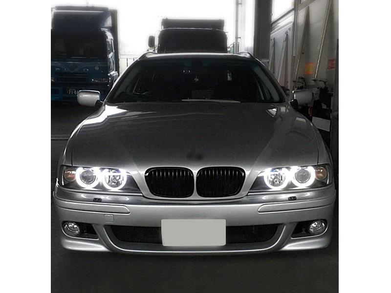 60W LED Angel Eye Halo Ring Head Light Xenon White For BMW E39 E60 E61 M5 X5