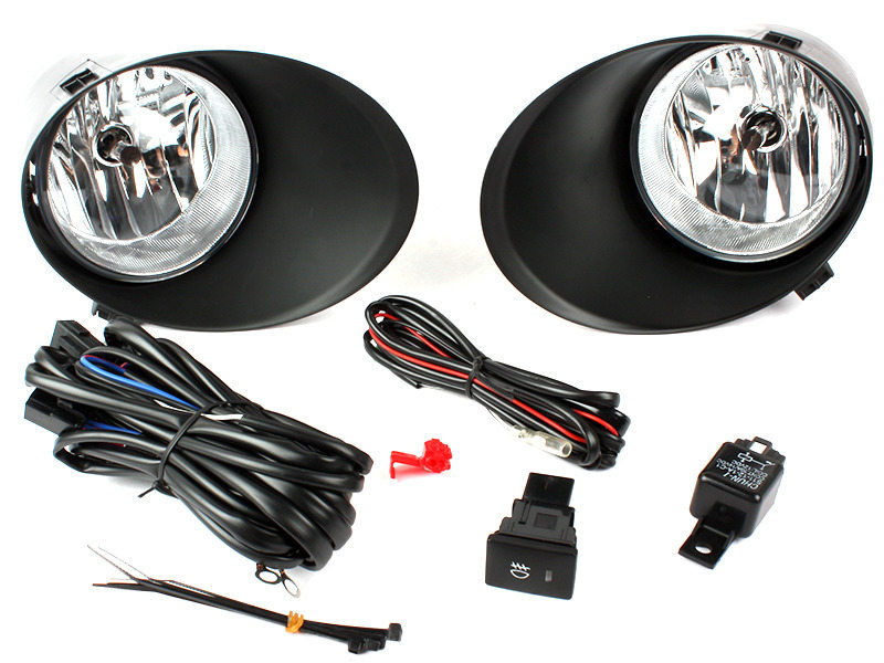 Clear Fog Light with Cover Wiring Switch Kit For Toyota Tundra 07-12