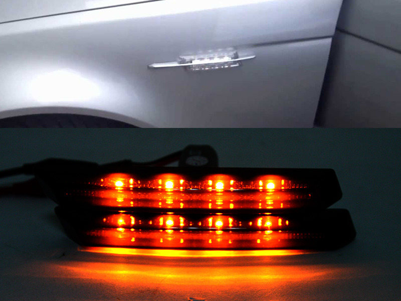 Smoke Lens M3 Style LED Side Marker Signal Light Indicator For BMW 3 Series E46 99-03