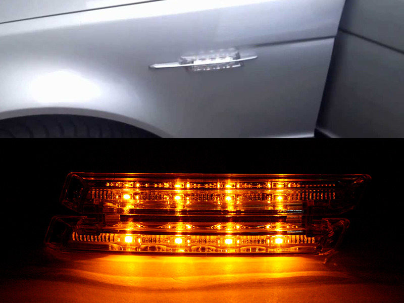 Clear Lens LED Side Marker Signal Light Indicator For BMW 3 Series E46 1999-2003