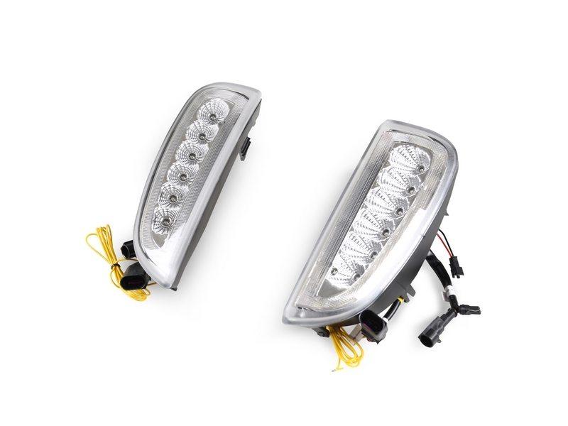 LED Bumper DRL Fog Light Signal Lamp Clear For Porsche Cayenne 06-10