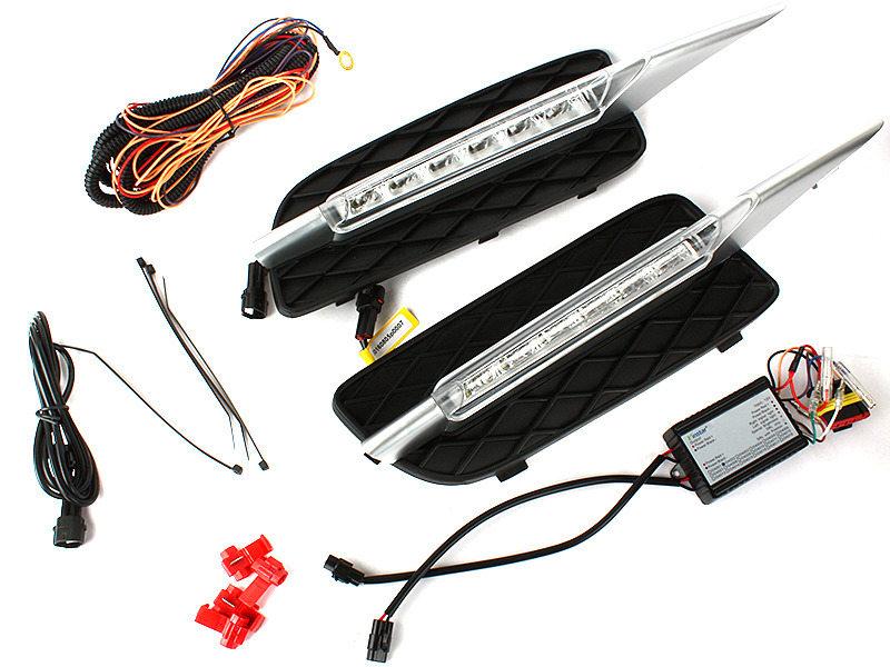 LED Bumper DRL Fog Light Signal Lamp Clear For BMW E70 X5 07-09