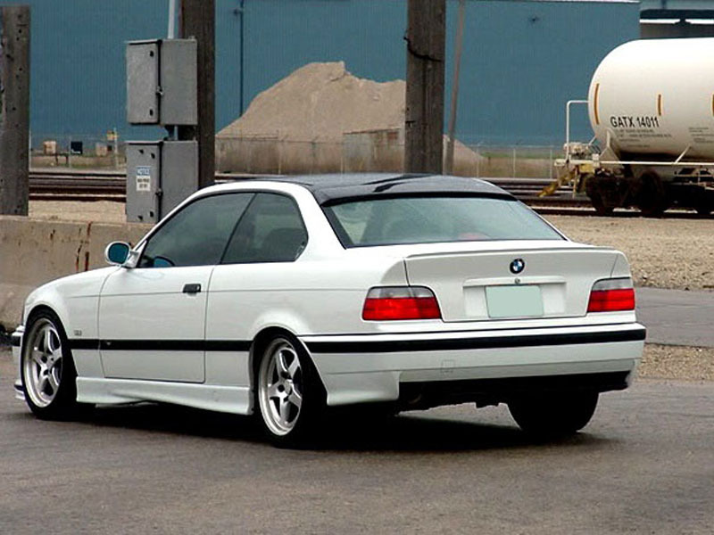 BMW E36 Coupe M3 Rear Boot Trunk lip spoiler Wing Unpainted
