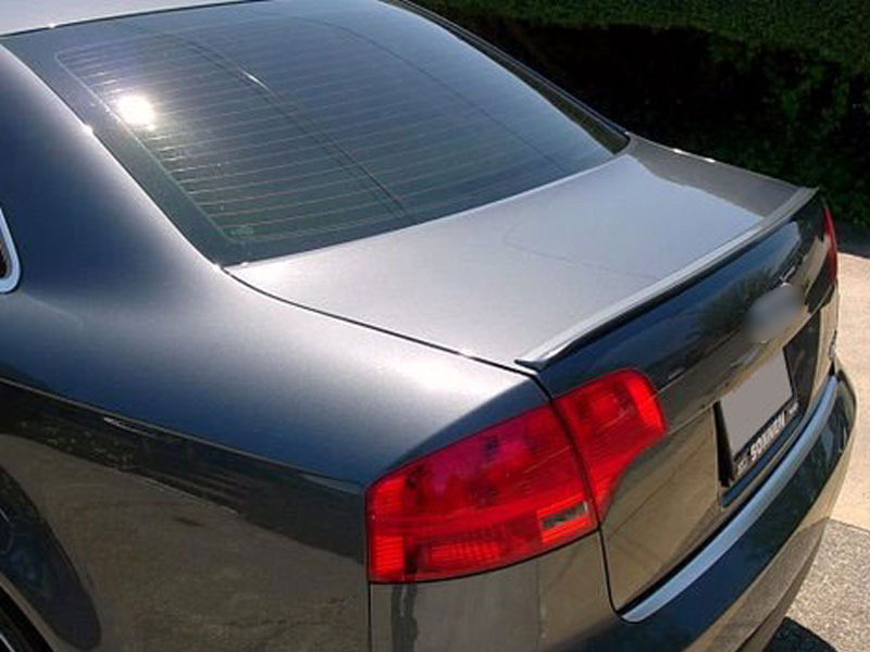 06-08 Audi A4 S4 B7 Sedan Saloon Boot Trunk Lip Spoiler Wing Unpainted