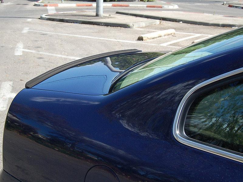 Carbon Fiber Look Trunk Lip Spoiler For Toyota Corolla E100 7th Sedan 1993-1997