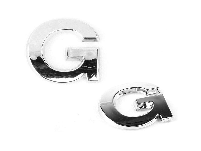 Letter G Chrome 3D Alphabet Emblem Bling Badge Shiny Symbol