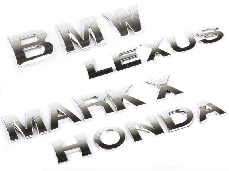 Letter L Chrome 3D Alphabet Emblem Bling Badge Shiny Symbol