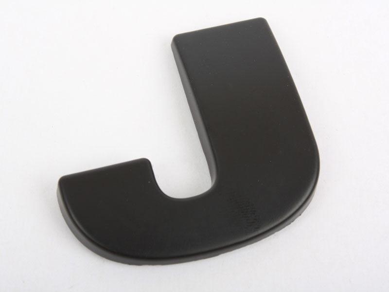 Letter J Matte Black Real Metal Alphabet Emblem Bling Badge Shiny Symbol