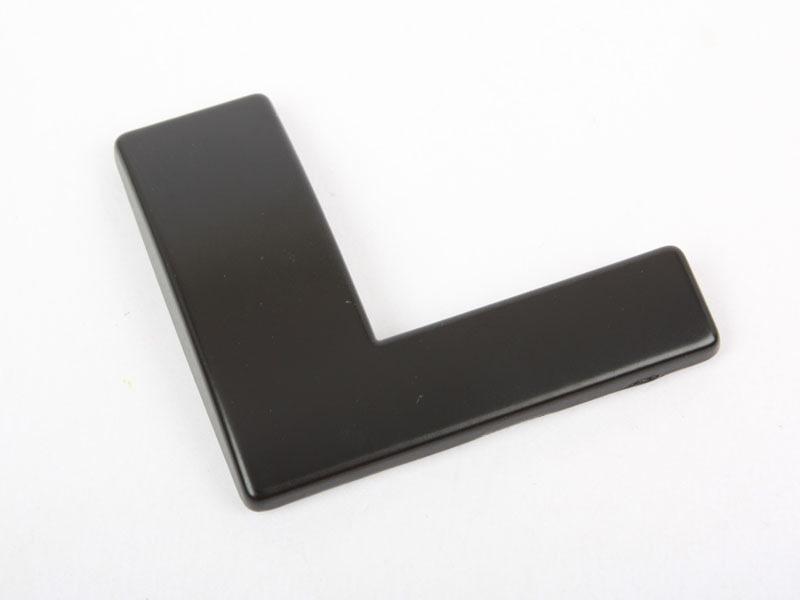 Letter L Matte Black Real Metal Alphabet Emblem Bling Badge Shiny Symbol