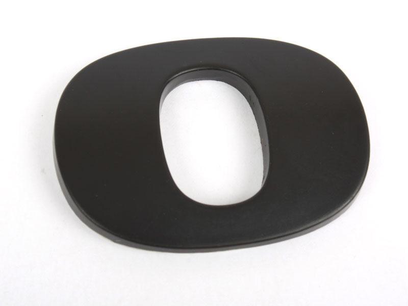 Number 0 Zero Matte Black Real Metal Alphabet Emblem Bling Badge Shiny Symbol