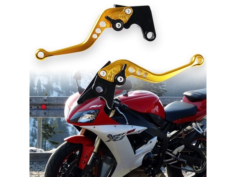 SHORTY CNC Brake Clutch Lever YAMAHA R1/R6/FAZER(GOLD)