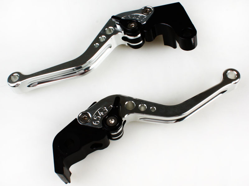 SHORTY CNC Brake Clutch Lever For Yamaha YZF R1 R6 R6S SILVER 05 06 07