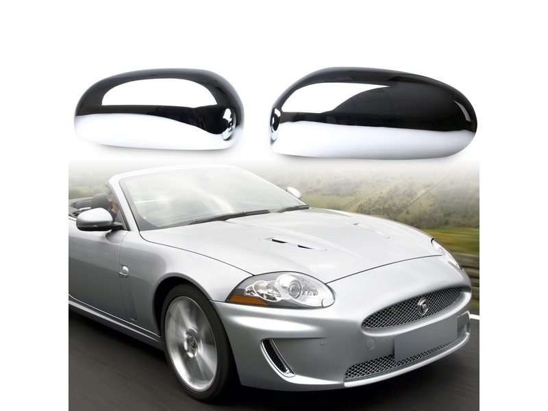 JAGUAR X-type XK XKR XJ X350 S-type Chrome Mirror Cover Door