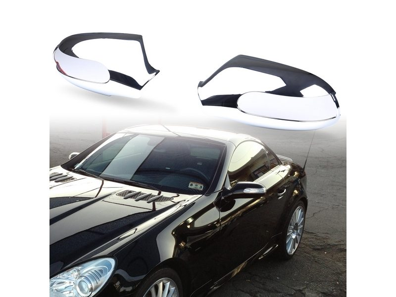 Chrome Door Mirror Covers For Mercedes Benz SLK-Class R171 2004-2009