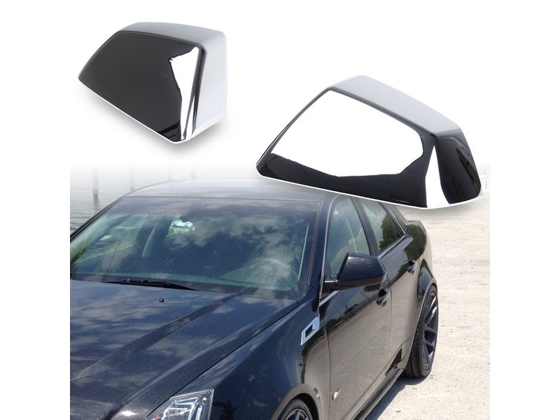 2008 2009 2010 CADILLAC CTS CHROME MIRROR COVER KIT