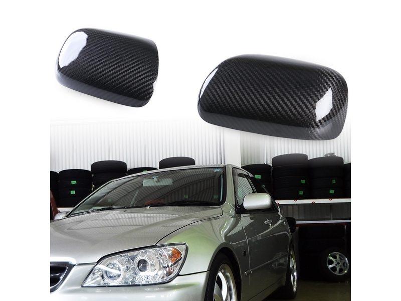 Dry Carbon Fiber Door Mirror Covers For Lexus IS200 IS300