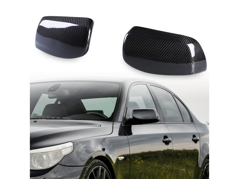 BMW E60 Rear Carbon Fiber Door Mirror Cover 530i 535i
