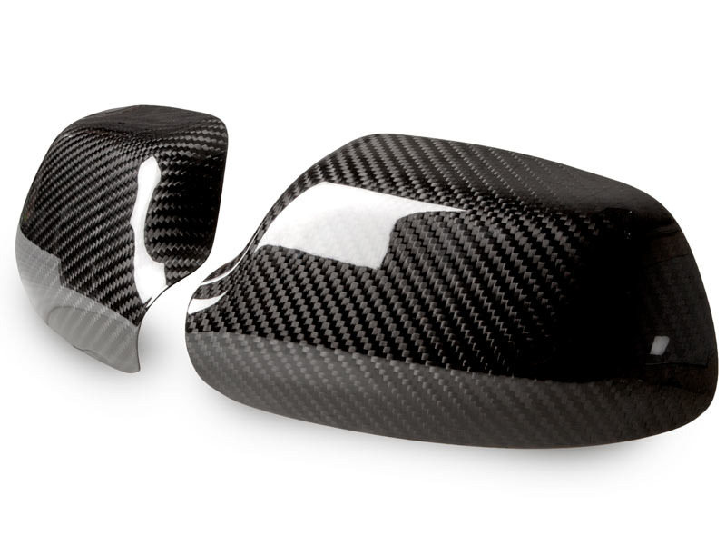 MAZDA 3 Sedan Hatchback Dry Carbon Fiber CF Door Side Mirror Covers Pair