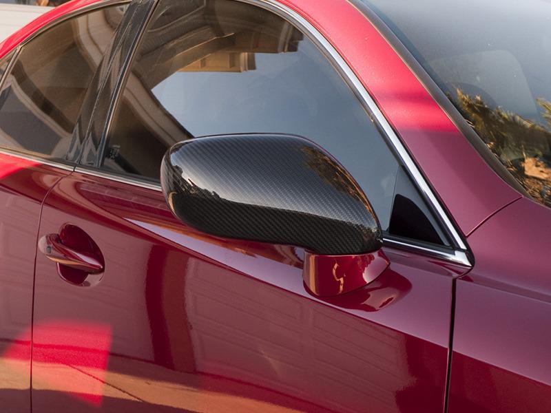Lexus IS250 IS350 LS460 Dry Carbon Fiber CF Door Side Mirror Covers RHD Pair
