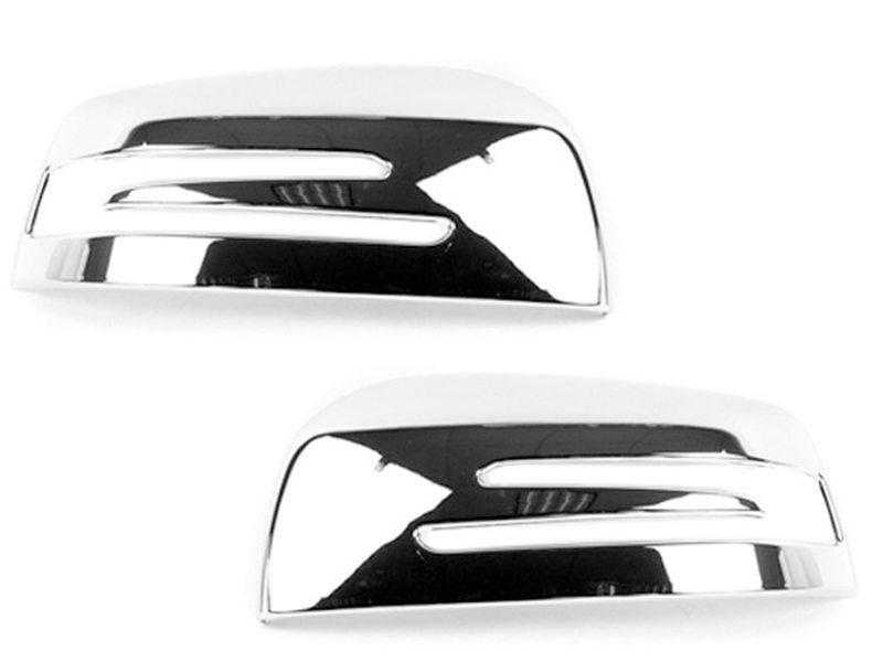 Pair Chrome Door Side Mirror Cover For Mercedes Benz X166 W166