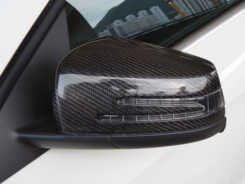 Full Replacement Carbon Fiber Mirror Cover For Benz W176 W204 W207 W212 W221 W218