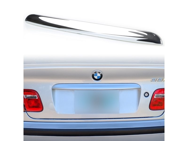 BMW E46 CHROME TRUNK LID HANDLE TRIM COVER 3 SERIES SEDAN