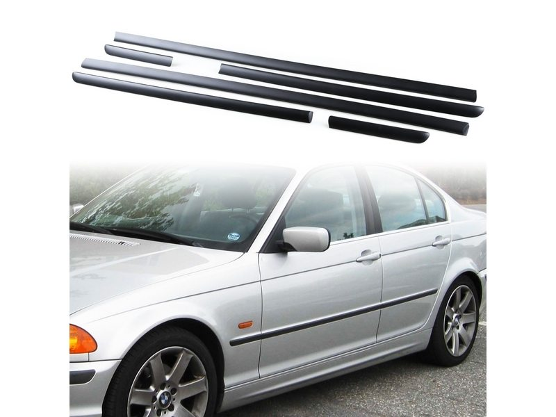 BMW E46 Sedan Touring Body Door Side Mouldings Set 4Dr OEM