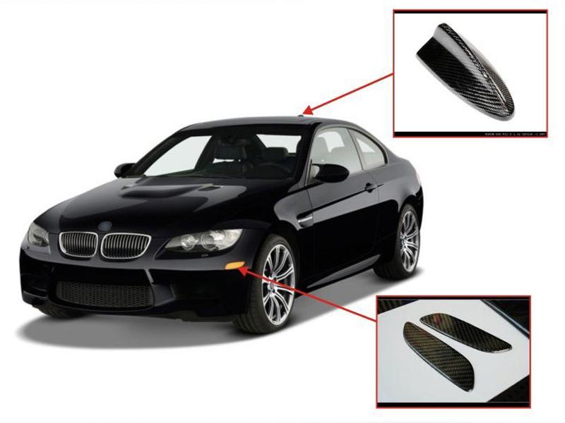 BMW E90 E92 E93 M3 REAL CARBON FIBER FRONT BUMPER REFLECTOR COVER