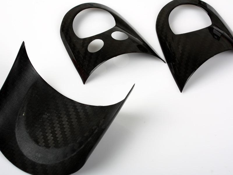Carbon Fiber Steering Wheel Cover Set For MINI Cooper R55 R56 R57