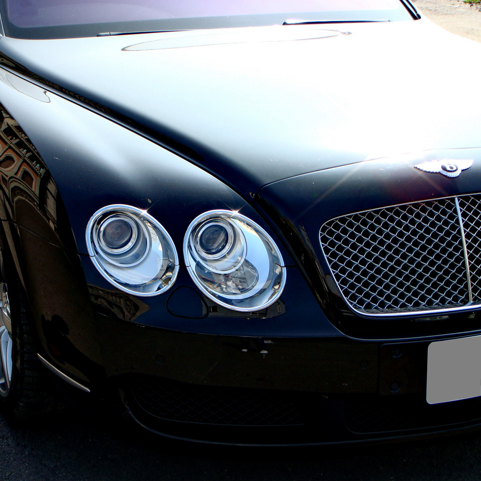 CHROME HEAD LIGHT TRIM BEZEL COVER BENTLEY FLYING SPUR SURROUND UPGRADES