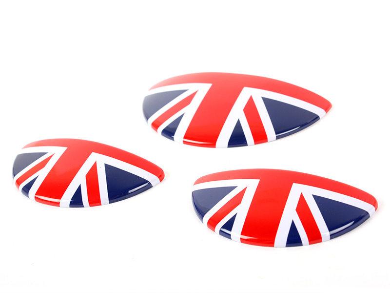 UK GB Red Flag Interior Door Handle Glove Box Cover For Mini Cooper S R50 R52 R53