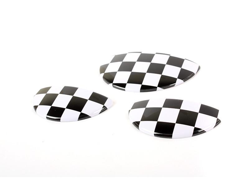 Racing Flag Interior Door Handle Glove Box Cover For Mini Cooper S R50 R52 R53
