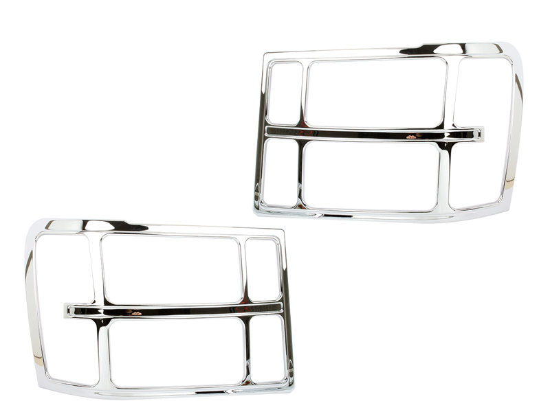 Head Light Front Lamp Bezel Cover Chrome Trim For GMC Sierra