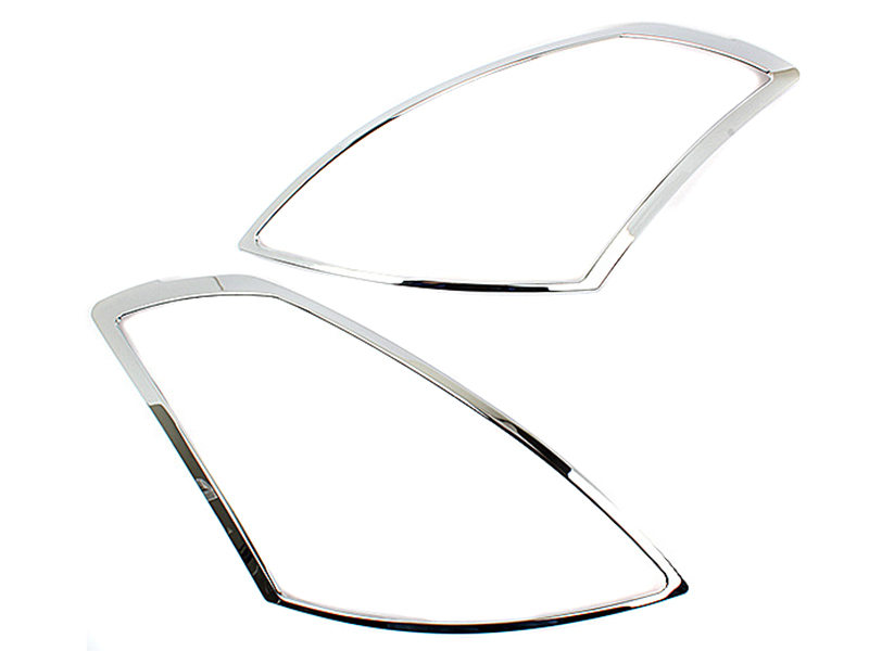Head Light Front Lamp Bezel Cover Chrome Trim For Nissan Altima