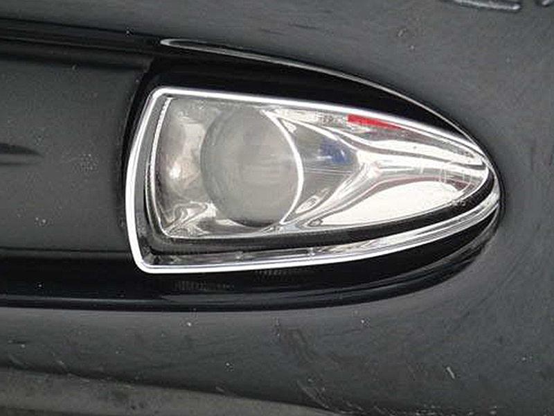 Chrome Fog Light Trim For Jaguar S-Type Prefacelift