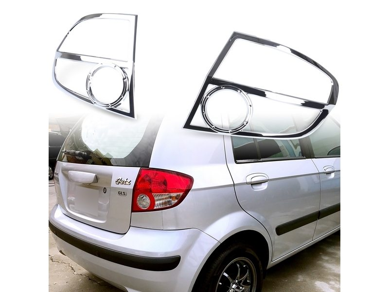 Tail Light Rear Lamp Bezel Cover Chrome Trim For Hyundai Getz Click