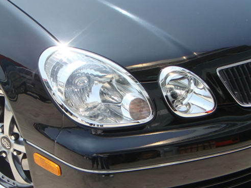 Head Light Front Lamp Bezel Cover Chrome Trim For Lexus GS300