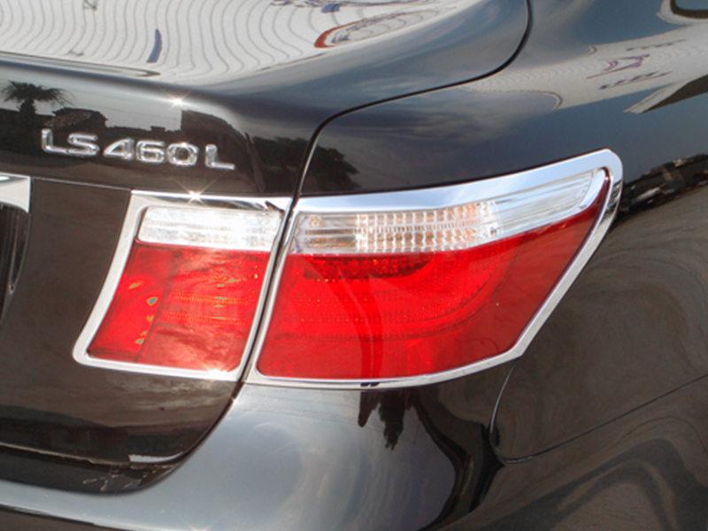 Tail Light Rear Lamp Bezel Cover Chrome Trim For Lexus LS460