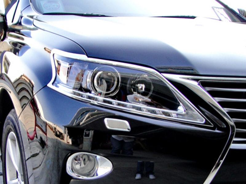 Head Light Front Lamp Bezel Cover Chrome Trim For Lexus RX350 2012-2015