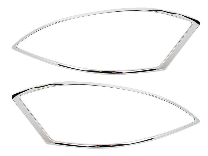 Head Light Front Lamp Bezel Cover Chrome Trim For Mercedes Benz W221