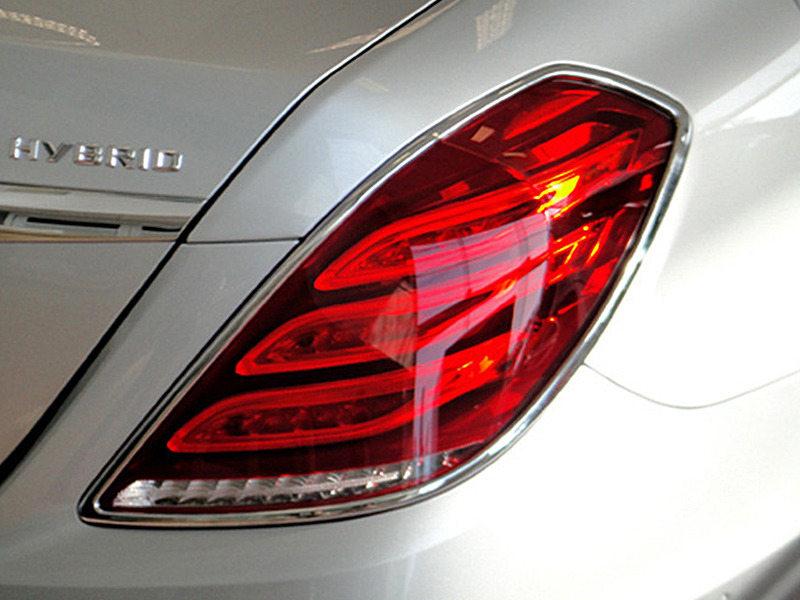 Tail Light Rear Lamp Bezel Cover Chrome Trim For Mercedes Benz W222