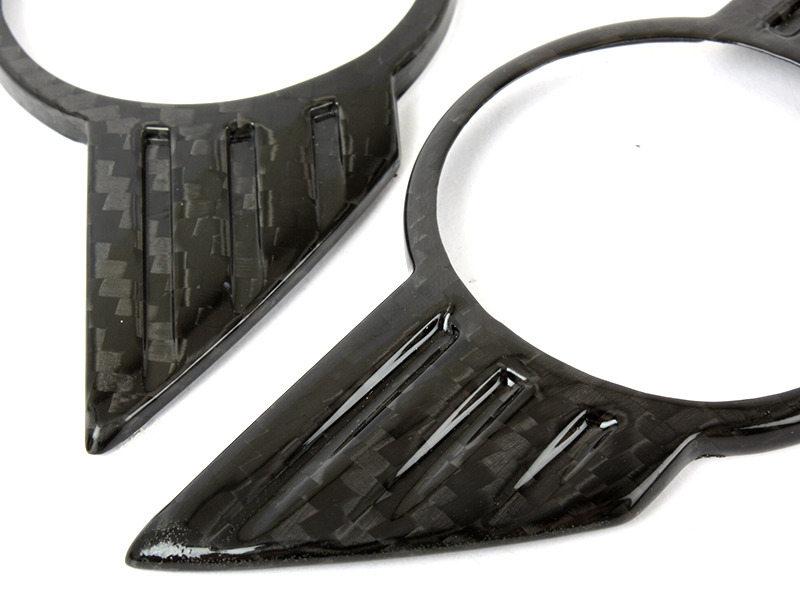 Carbon Fiber Trunk Lid Wing Emblem Badge Cover For Mini Cooper R56 Front+Rear