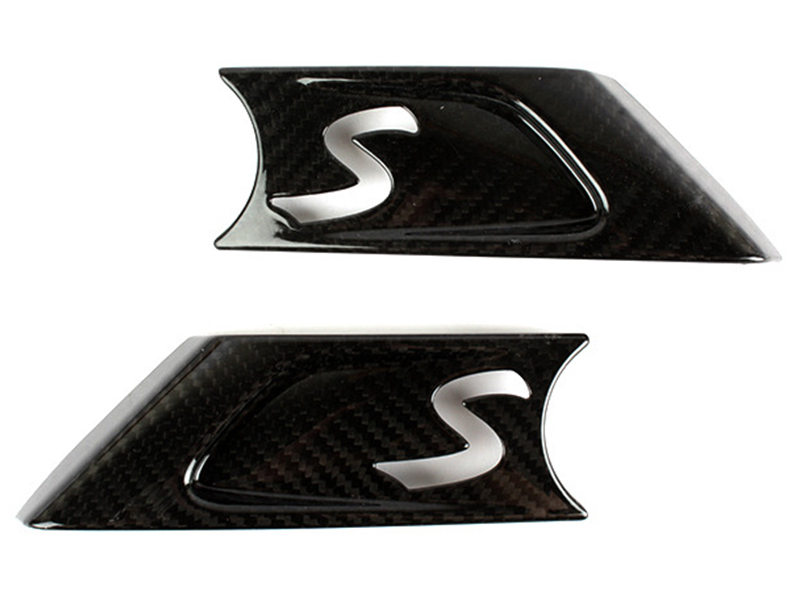 Carbon Fiber Side Vent Winker Trim Cover For Mini Cooper S R55 R56 R57 R58 R59