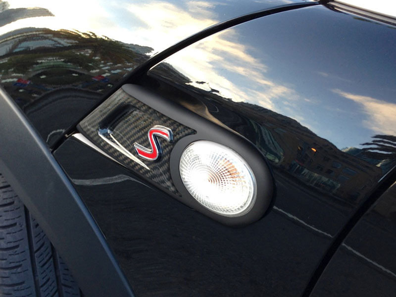 Carbon Fiber Side Vent Winker Trim Cover For Mini Cooper S R55 R56 R57 R58 R59