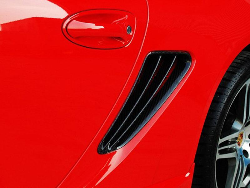 Carbon Fiber Side Vent Air Duct Intake Cover For Porsche Cayman S 987 2 Slats