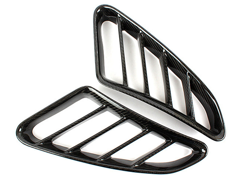Carbon Fiber Side Vent Air Duct Intake Cover For Porsche Boxster 987 2005-2012