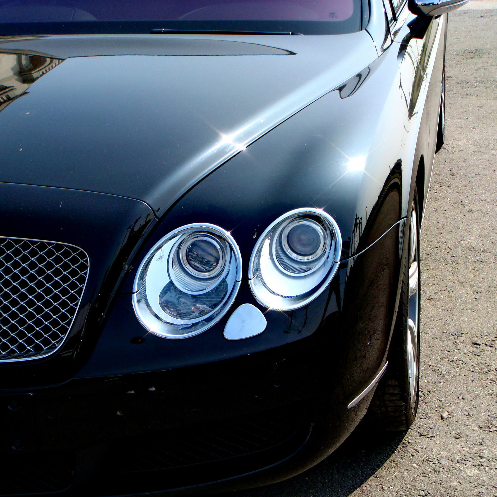 Chrome Head Light Washer Cover Trim Bentley Continental GT 2D
