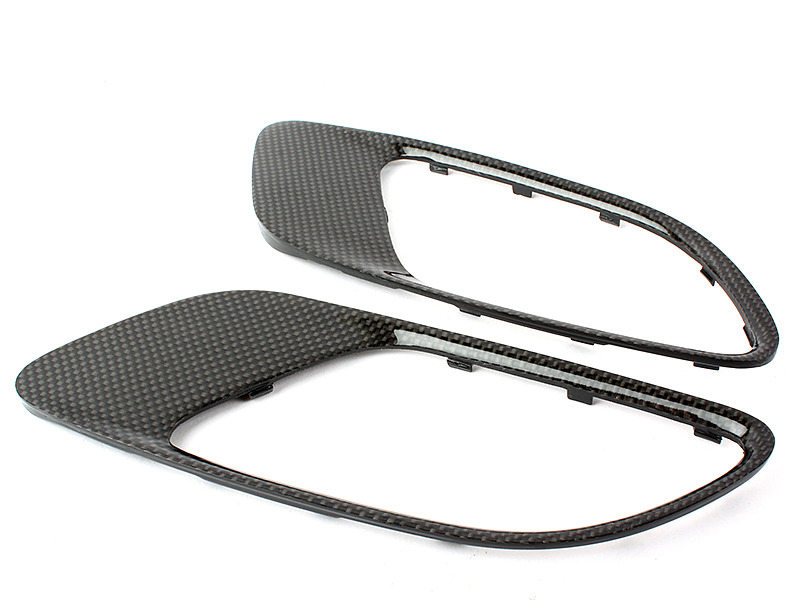 Real Carbon Fiber Hood Vent Air Duct Cover For BMW E90 E92 E93 M3