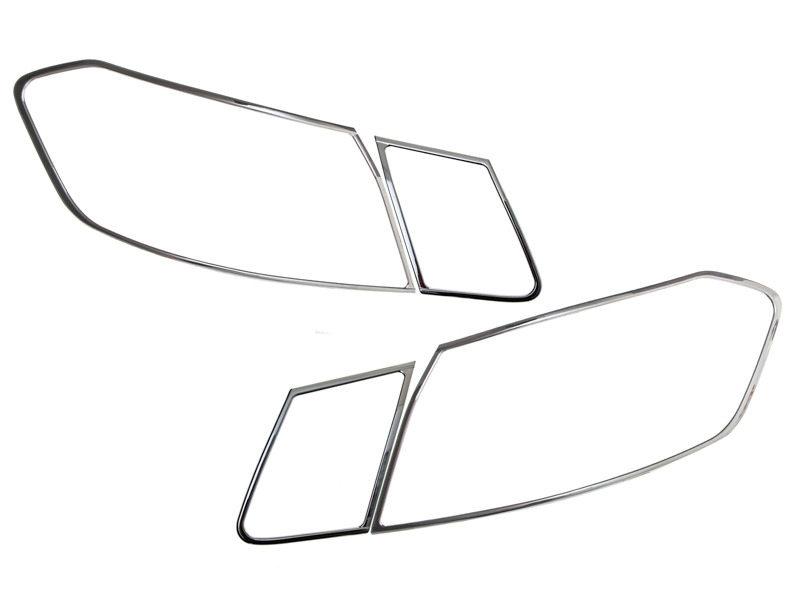 Tail Light Rear Lamp Bezel Cover Chrome Trim For Mercedes Benz W212 4D 2013-2016