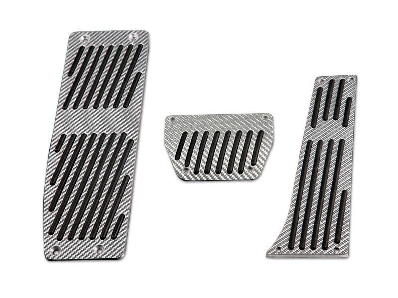 Silver Carbon Pedals Set For BMW E46 Sedan Coupe AT AUTO LHD ZHP 3 Pcs